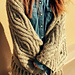 A little shining  Linen shawl pattern