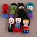 7 Superhero finger friends Finger Puppets  pattern