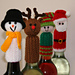 Tic Tac Toys/Wine Bottle Toppers - Christmas pattern