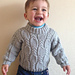 Cable & Seed Stitch Sweater pattern
