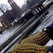 krakspark mittens in two colours pattern