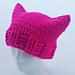 Crocheted Cat Ear Hat pattern