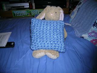 Blue Slip Stitch Pillow