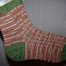 Toe up sock on two circular needles pattern