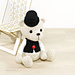 Teddy Bear in a Top Hat and Vest pattern