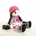 Doll - Girl in a dress, jacket, boots and hat pattern