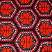 Basketball Block Throw pattern