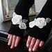 Appliqué Rose Fingerless Gloves pattern