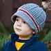 The Perfect Stripe Newsboy Hat pattern