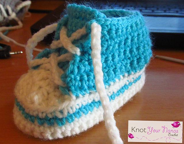 6-12 Months Crochet High Tops (converse
