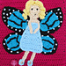 Butterfly Fairy Applique pattern