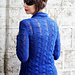 Zigzag patterned cardigan pattern