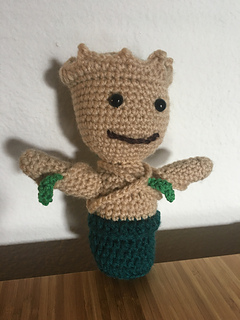 Amazon.com: Guardians of the Galaxy Inspired Crochet Groot ... | 320x240