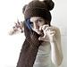 Bear Scarf-Hat pattern