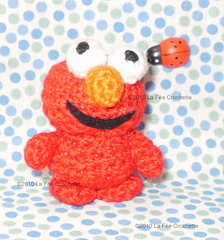 Elmo (with link to pattern) - CROCHET | Crochet dollies, Crochet ... | 240x224