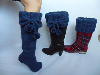latest design online for sale outlet store sale Long Knee High Chunky Boot Socks pattern by Lorraine Leatham