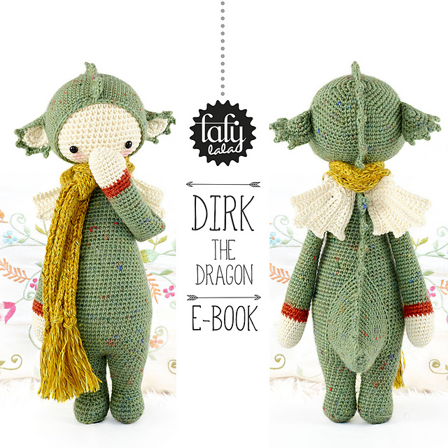 Dragon Draco Amigurumi Crochet Pattern / PDF e-Book / Stuffed | Etsy | 640x640