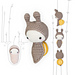lalylala SNAIL life cycle playset pattern