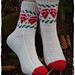 Bjelleklang julesokker pattern