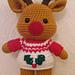 Weebee Doll - Dress Me Up Reindeer pattern