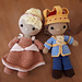 Weebee Nelly Doll - Prince & Princess of Hearts pattern