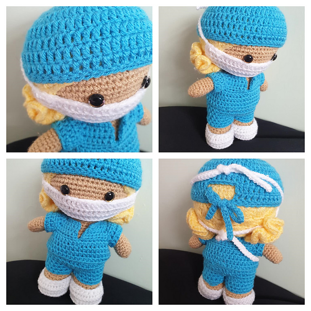 Crochet Dolls Coat-Hat (With images) | Crochet doll clothes free ... | 640x640