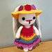 Weebee Nelly Dress Me Up Rainbow Bunny pattern