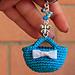 Mini bag keychain pattern