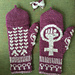 Roller Derby Love Gloves pattern