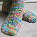 Rainbow Explosion Socks pattern
