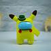 Among Us Pikachu Pokemon pattern