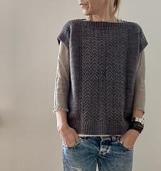Woolen Worsted sample; sleeveless, split hem