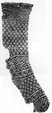 Sock knit between 1100 and 1400 CE.