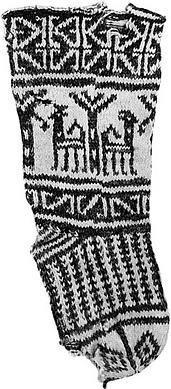 Knit child's sock from Fustat, Egypt, circa 1300-1400 CE