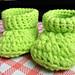 Baby booties for newborn/preemies pattern