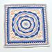 Oceanic Rose 12'' Afghan Square pattern