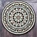 Mint Coffee Mandala pattern