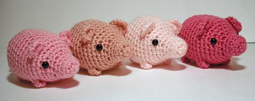 Crochet pig Pig key chain Cute pig keychain Tiny Amigurumi | Etsy | 198x500