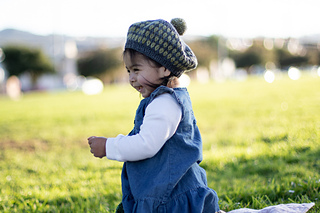 Two-color tam, toddler size on 13-month old model