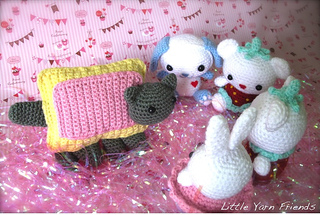 Ravelry: Nyan Cat Amigurumi Stuffie pattern by Julianna McDuffie | 215x320