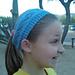 Diamond Eyelet Headband pattern