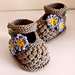 Forget-Me-Not Baby Shoes pattern