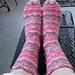 Vine Lace Stripe Summer Socks pattern