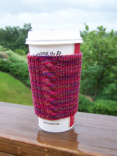 Hand Knitted Cabled Coffee Cuff
