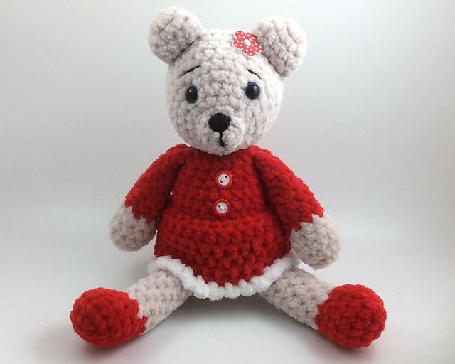 Free Crochet Teddy Bear Pattern - Lucy Kate Crochet | 512x640