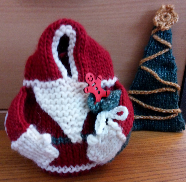Small Santa Tea Cozy from Christmas Tea Cozies by Loraine Birchall