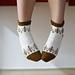 Pine tree socks pattern