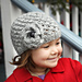 Mia Chunky Lace Hat with Flower pattern