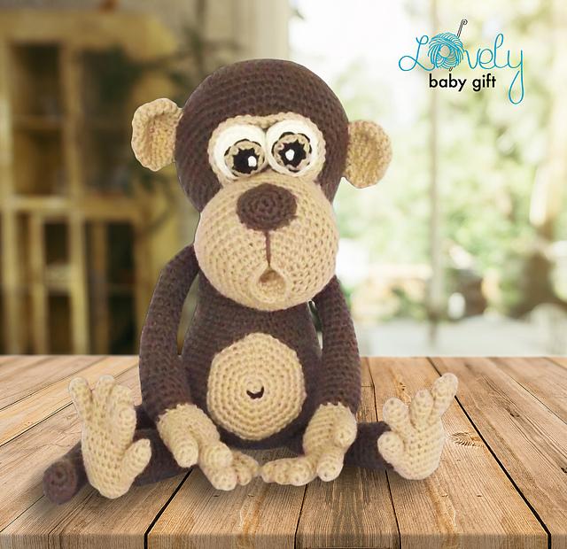 How to crochet lovely Monkey - YouTube | 620x640
