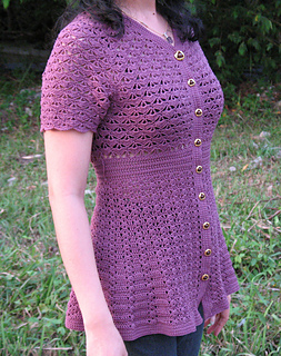Orchid Crocheted Top